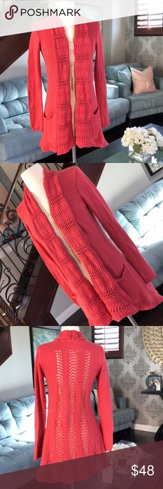 👚🌸Anthropologie beautiful sweater cardigan ❤️ Gorgeous color soft cotton wool blend sweater cardigan by Anthropologie so comfy and cute on in great condition ❤️ Anthropologie Sweaters Cardigans