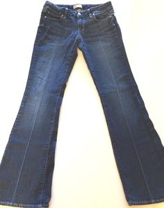 "Paige Jeans Sz 27 Canyon Boot Cut Petite 28"" x 31"" Distressed Stretch Authentic…"