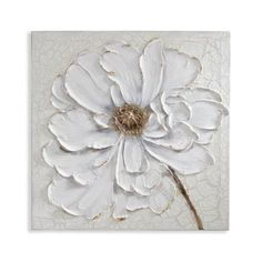 Best 12 Textural and sophisticated, the striking Plaster Floral Canvas Wall Art from Arthouse brings a chic touch to any space. An understated color palette and rich detail come together in this unique, statement-making piece. Canvas Wall Decor, Diy Canvas, Canvas Art, Canvas Ideas, Art Texture, Texture Painting, Acrylic Painting Canvas, Diy Painting, Painting Flowers