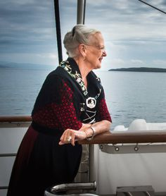During her official visit to the Faroe Islands, Queen Margrethe of Denmark sailed on the Royal Yacht Dannebrog to the capital Tórshavn on June Denmark Royal Family, Danish Royal Family, Danish Royalty, English Royalty, Royal Fashion, Fashion Art, Kingdom Of Denmark, Prince Frederick, Queen Margrethe Ii