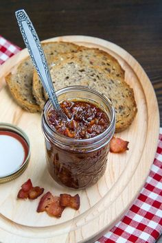 Maple Bourbon Bacon Jam - If I make this, I will caramelize the onions (takes about an hour) , consider using balsamic vinegar, and skip the bourbon, cumin, and chipotle pepper. Don't want to overpower the bacon flavor.