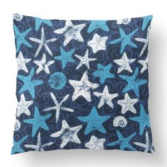 Custom Outdoor She Sells Sea Shells Cushion She Sells Sea Shells Item# Polyester Cover Polyester Fill Blue Custom Outdoor Cushions, Sea Shells, Fill, Shapes, Throw Pillows, Texture, Quilts, Blanket, Cover