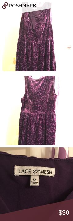 Modcloth dress! Purple flowery velvet dress! Never been worn! Doesn't fix:( I normally wear 1X so I would say it's a large or XL fit. ModCloth Dresses Midi