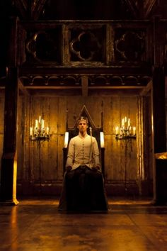 """As if this flesh which walls about our life, / Were brass impregnable."" __Richard II, Act III, Scene 2. Credit: Eddie Redmayne as Richard II, Donmar Warehouse 2012"
