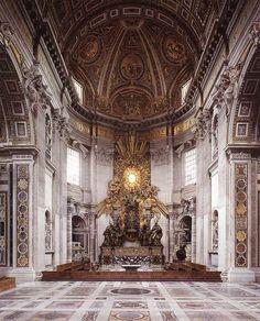 Gian Lorenzo Bernini. Cátedra de San Pedro, 1657-66. San Pedro del Vaticano, Roma.