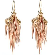 Alexis Bittar earrings: ROSE GOLD SPIKE EARRING