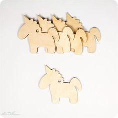 5 x Einhorn-Geschenkanhänger aus Holz, Unicorn Wooden Gifttags