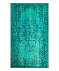 Look at this Turquoise Fade Chroma Rug on #zulily today!