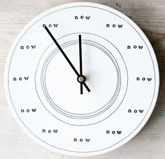 MADE TO ORDER ceramic porcelain clock 8.25 now. by mbartstudios