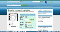 Websites For Sale - Cheap Car Insurance Young Website at www.websitetosell.com     Wow
