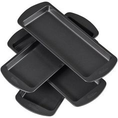 Buy Easy Layers Loaf Pan Set, 4 Piece at UnbeatableSale Bread Mold, Pan Bread, Torte Cake, Loaf Cake, Bread Cloche, Chicago Metallic, Mini Loaf Pan, Create A Cake, Baking Supplies
