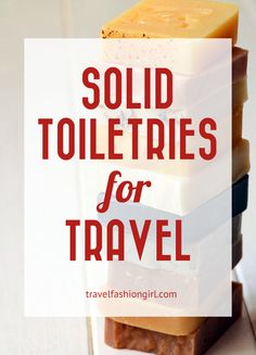 Whether you're looking to travel carry-on only or maximize beauty products on your trip, solid toiletries for travel are the perfect alternative to liquids!