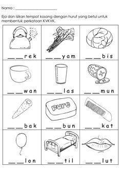 Collection of Worksheet preschool bahasa melayu Printable Activities For Kids, Preschool Learning Activities, Preschool Printables, Kindergarten Worksheets, Spanish Lessons For Kids, Spanish Teaching Resources, Learning Spanish, Kindergarten Test, Malay Language