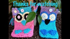 Crochet Owl Cell Phone Case, cover, pouch, holder,