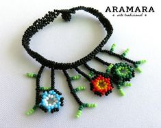 The Snake, Huichol Art, Mexican Jewelry, Boho, Bead Art, Necklace Lengths, Crochet Earrings, Chokers, Etsy