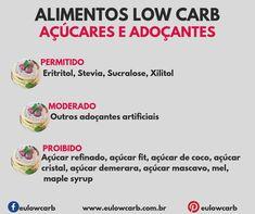 LOW CARB: ALIMENTOS PERMITIDOS, MODERADOS E PROIBIDOS Low Card Diet Plan, Easy Freezer Meals, Light Diet, Low Carbon, Low Carb Diet, Health Diet, Ketogenic Diet, Low Carb Recipes, Healthy Habits