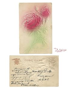 Embossed Roses Birthday Greetings Post Card       CLICK HERE to download my Embossed Roes   ************************************...