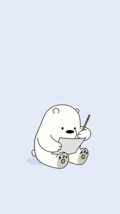 22 Ideas Wall Paper Iphone Disney Baby For 2019 Cute Panda Wallpaper, Cartoon Wallpaper Iphone, Disney Phone Wallpaper, Bear Wallpaper, Kawaii Wallpaper, We Bare Bears Wallpapers, Panda Wallpapers, Cute Cartoon Wallpapers, Ice Bear We Bare Bears