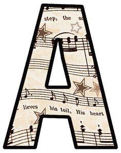 FREE Printable Vintage Sheet Music: ---ALPHABET SETS