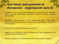 Intervención educativa ante la disrupción