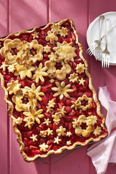Strawberry Slab Pie