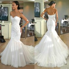 XH-220 2017 Tulle Sweetheart Mermaid Wedding Dress Vestido De Noiva Sexy Off The Shoulder Appliques Lace Sweep Train Bridal Gown ** Detailed information can be found by clicking on the VISIT button