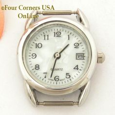 Four Corners USA Online - Women's Mother of Pearl Stainless Steel Back Watch Face w/Calendar 12mm pin NAWF-MOP-4W, $36.00 (http://stores.fourcornersusaonline.com/womens-mother-of-pearl-stainless-steel-back-watch-face-w-calendar-12mm-pin-nawf-mop-4w/)