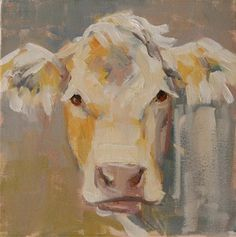 """Daily Paintworks - """"sweet"""" - Original Fine Art for Sale - © Carol Carmichael Cow Pictures, Cow Painting, Farm Art, Cow Art, Art For Art Sake, Animal Paintings, Art Paintings, Sculpture, Painting Inspiration"""