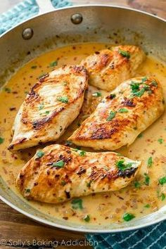 Skillet Chicken with Creamy Cilantro Lime Sauce - from Taylor