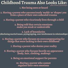 e have a belief that childhood trauma looks like extreme catastrophic events. I work with many adults who struggle with feeling stuck, Mental And Emotional Health, Emotional Abuse, Mental Health Awareness, Emotional Intelligence, Ptsd Awareness, Inner Child Healing, Trauma Therapy, Coaching, Feeling Stuck