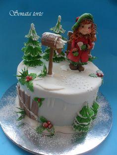 Sarah Key winter cakes - Cake by Sonata Torte