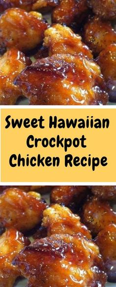 Sweet Hawaiian Crockpot Chicken Recipe  Ingredients: 2 lb. chicken tenderloin chunks 1 cup pineapple juice cup brown sugar cup soy sauce Instructions: Combine all together, cook on low in Crock-pot hours…that's it! Chicken Thights Recipes, Chicken Parmesan Recipes, Easy Chicken Recipes, Recipe Chicken, Healthy Chicken, Easy Chicken Tenderloin Recipes, Easy Recipes, 3 Ingredient Chicken Recipes, Gastronomia