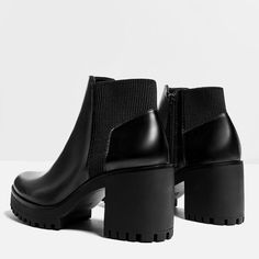 Image 4 of TRACK SOLE HEELED ANKLE BOOTS from Zara