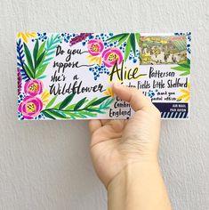 From Alice to Alice. 💐 . . #wildflowers #aliceinwonderland #happymail #write #handwritten #handwrittenwordsarethebest #draw #doodle… Letter Writing, Letter Art, Relationship Crafts, Mail Art Envelopes, Snail Mail Pen Pals, How To Make An Envelope, Envelope Art, Sharpie Art, Happy Mail