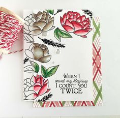 Make It Monday #260: From Black & White to Color - Count You Twice Card by Danielle Flanders for Papertrey Ink (September 2016)