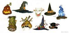 Halloween hats by Sidxartxa.deviantart.com on @deviantART
