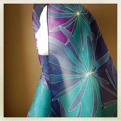 Womens Silk Scarf Infused with Healing  SEASIDE by LisaKubik, $155.00