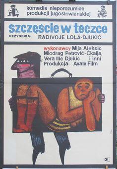 Yugoslavian - Bosnia (1965) film. Polish poster by Maciej Hibner