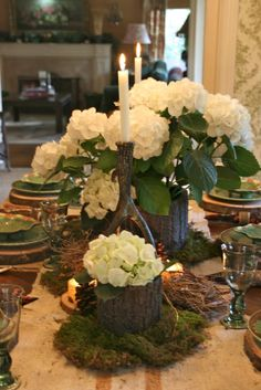 Several nice tablescapes and dish combinations.