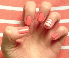 I practically just did this on my nails, but with a different color.