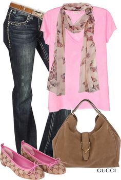 """""""Pink & Gucci"""" by garbowvu on Polyvore"""