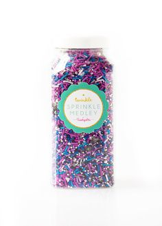 Galaxy Twinkle Sprinkle Medley, Galaxy Colors Sprinkles, Blue Sprinkles, Solar System Sprinkles, Sprinkle Mix -- MED (8 oz )