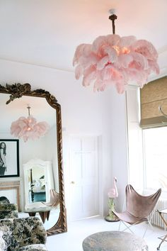 The Ostrich Feather Chandelier | A Modern Grand Tour