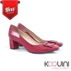Um toque de cor no final de semana com saltinho bloco e verniz jambo #koquini #comfortshoes #euquero Compre Online: http://koqu.in/2gosow3