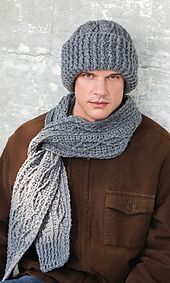 Ravelry: Men's Cabled Scarf & Hat pattern by Bendy Carter