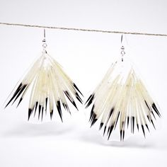 Image of Sealed in Ice Quill Glam Fan Earrings