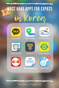 My recommended list of must have phone applications (iPhone and Android) for expats living in South Korea. Best Language Learning Apps, Learning Languages Tips, Korean Words Learning, Korean Names Generator, Seoul Korea Travel, South Korea Seoul, Learn Basic Korean, Learn Korean Alphabet, Learn Hangul