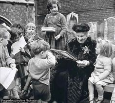 Maria Montessori, a genius and a teacher, with some of her pupils