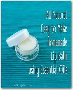 All natural (easy to make) homemade lip balm!! #oilyfamilies