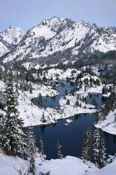 Winter Alpine Lakes WA
